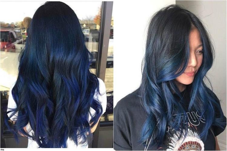 Tóc ombre xanh dương