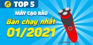 Top 5 máy cạo râu chạy nhất tháng 01/2021 tại Điện máy XANH