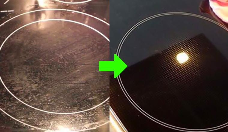 Cách làm sạch vết bẩn cứng đầu trên bếp điện bằng thứ không ai ngờ