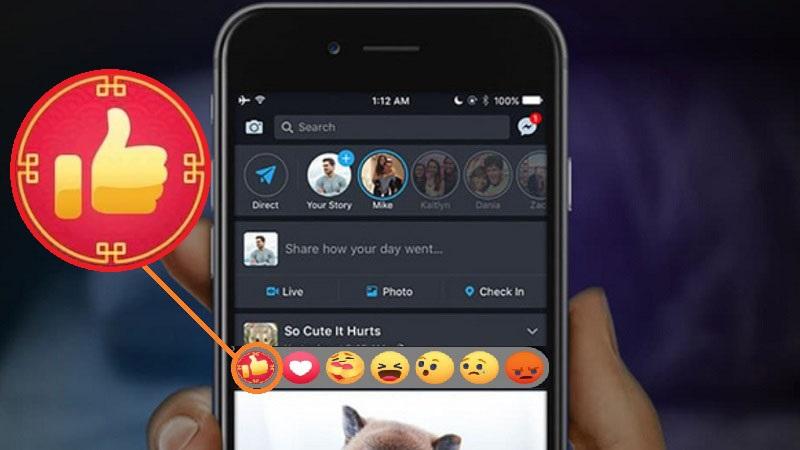 Facebook cập nhật nút Like đỏ chào năm mới Tân Sửu, bạn đã có chưa?