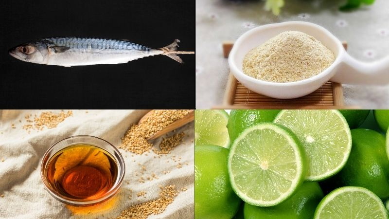 Nguyên liệu làm món cá saba nướng giấy bạc