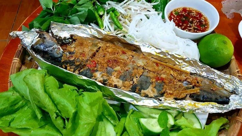 Món cá saba nướng giấy bạc