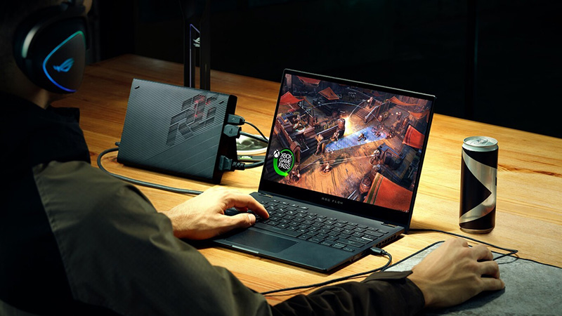 ROG Flow X13 can also be turned into a gaming console if you want