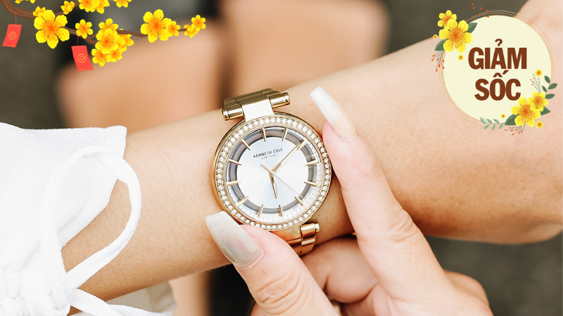 Vui Tết sum vầy, đồng hồ thời trang nữ Kenneth Cole giảm cực sốc 60%, sắm về du Xuân thì còn gì bằng