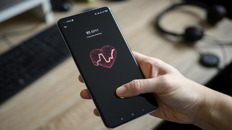 Tính năng đo nhịp tim trên Xiaomi Mi 11