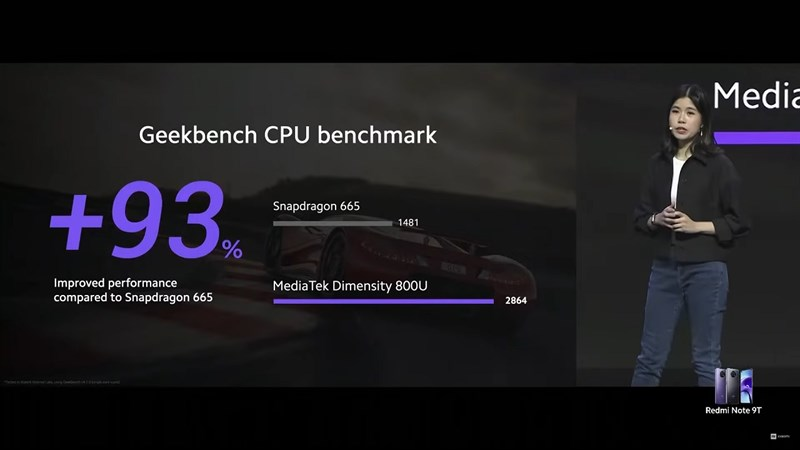Dimensity 800U performance compared to Snapdragon 665