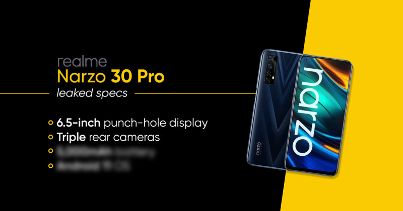 Configuration leaked out of Narzo 30 Pro