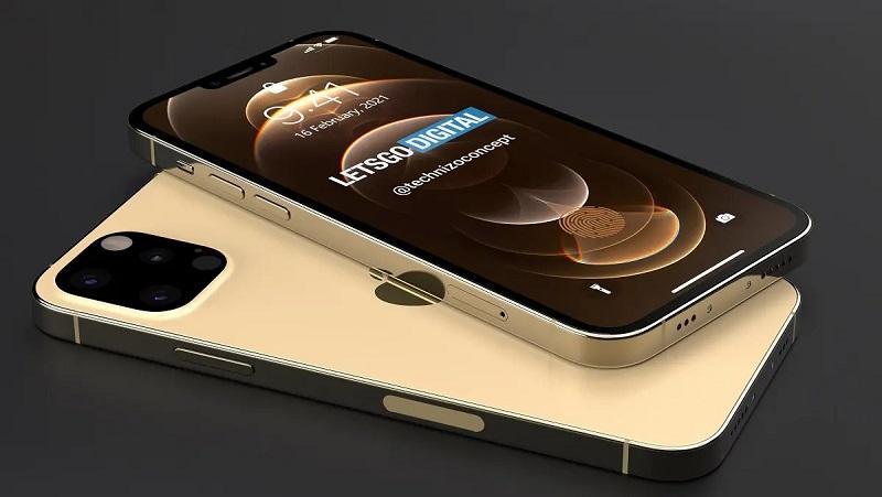 Mê mẩn trước mẫu thiết kế iPhone 13 Pro (iPhone 12s Pro) cực đẹp với notch tai thỏ nhỏ gọn, cảm biến vân tay dưới màn hình