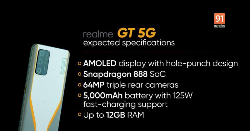 Leak configuration of Realme GT 5G