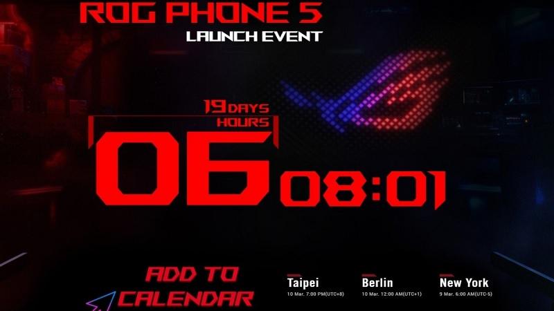 Thời điểm ra mắt ASUS ROG Phone 5