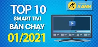 Top 10 Smart tivi bán chạy nhất tháng 01/2021 tại Điện máy XANH