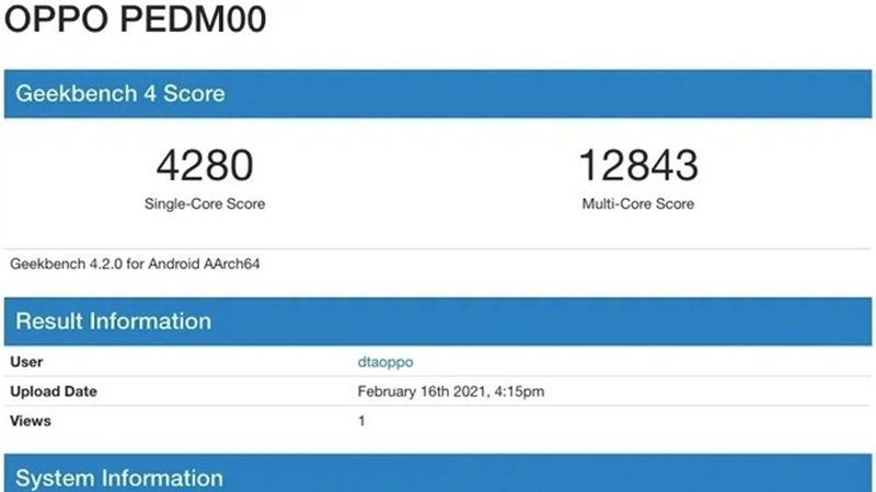 The OPPO Find X3 has a quite high Geekbench score