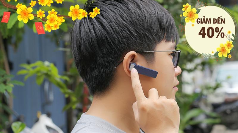 Tai nghe Bluetooth Roman R552X Xanh