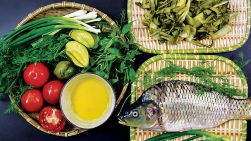 Nguyên liệu món canh riêu cá chép