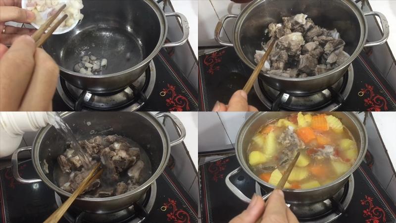 Cách làm canh sườn khoai tây