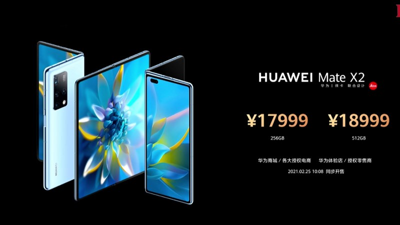 2,940 USD (equivalent to 68.1 million VND) for 8 GB RAM version, 512 GB internal memory.