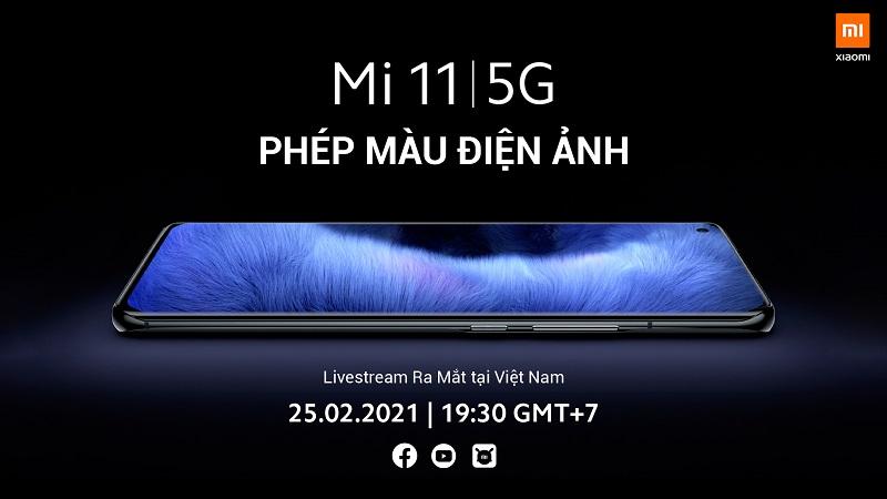 Sự kiện ra mắt Mi 11 5G tại Việt Nam sẽ diễn ra lúc 19:30 ngày 25/2