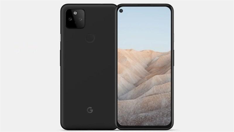 Smartphone tầm trung Google Pixel 5a lộ ảnh render với thiết kế quen thuộc: Màn hình nốt ruồi, cụm camera kép hình vuông mặt sau
