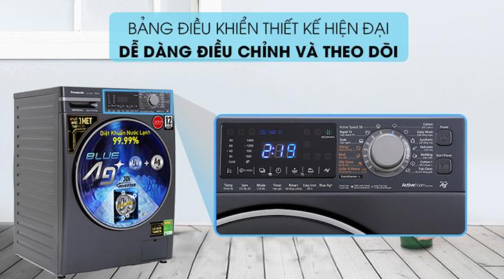 Máy giặt Panasonic lồng ngang FX2 có bảng điều kiển thiết kế hiện đại