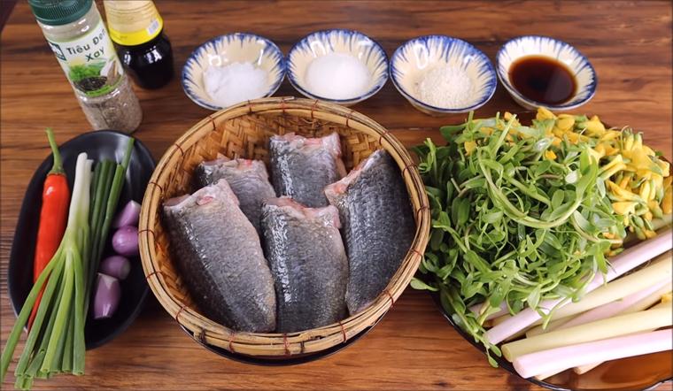 Nguyên liệu làm món cá rô phi kho lạt
