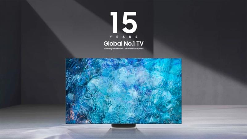 2020 là năm thứ 15 liên tiếp Samsung trở thành thương hiệu TV số 1 trên thế giới, dẫn đầu phân khúc TV 75 inch trở lên