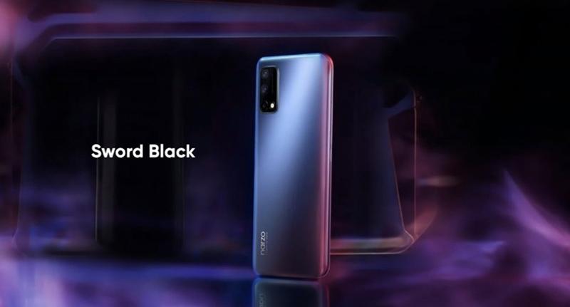Realme Narzo 30 Pro 5G silver version.  (Source: GSMArena).