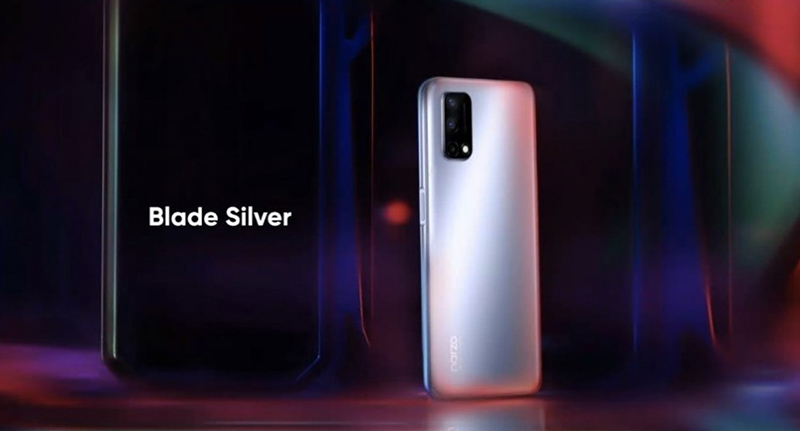 The machine has 2 colors with the name that Realme gave as 2 swords that are Blade Silver and Sword Black, simply understood as silver and black.