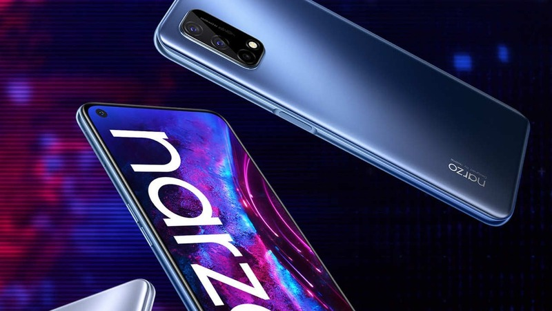 On the front, the Realme Narzo 30 Pro 5G is equipped with a mole screen, but the bottom border is still a bit thick.  According to Realme announced, the device has a front camera with a resolution of 16 MP, promising to display a beautiful selfie ability for users.  I quite like the mole screen design because it makes the front look much more compact.