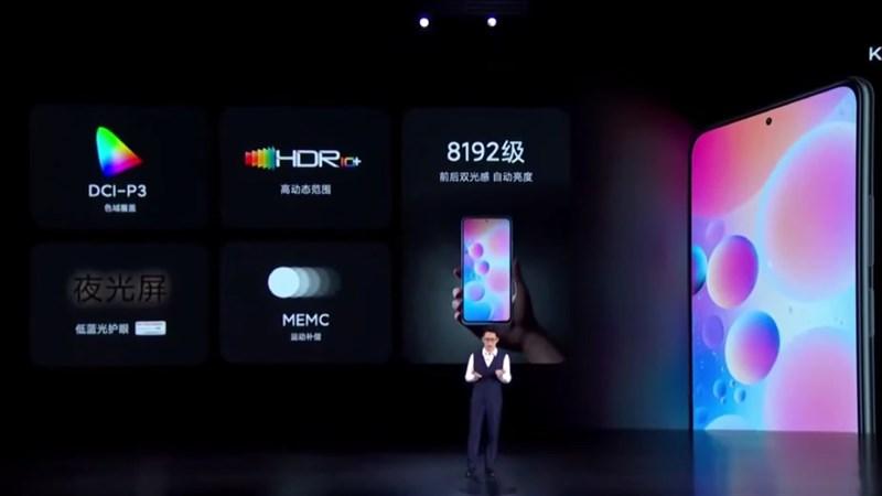 Công nghệ màn hình hiển thị vô cùng ấn tượng của Xiaomi Redmi K40