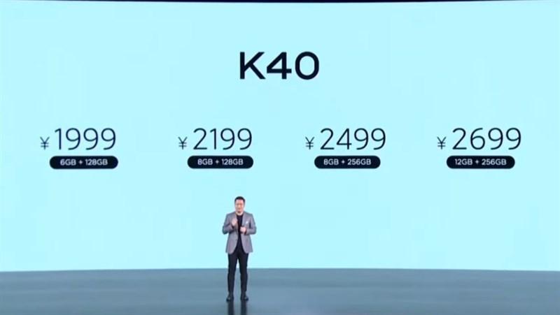 Giá bán chính thức của Redmi K40