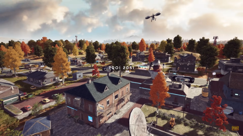 PUBG: New State is set in 2051 and has a map called 'TROI'.  (Source: PUBG).