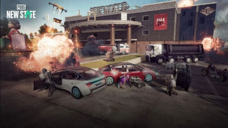 Weapons, items, and other features from vehicles to buildings in PUBG: New State are all 'futureized'.  (Source: PUBG Studio).