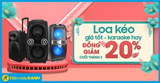 Loa kéo đồng giảm 20% - Giá tốt, hát Karaoke hay