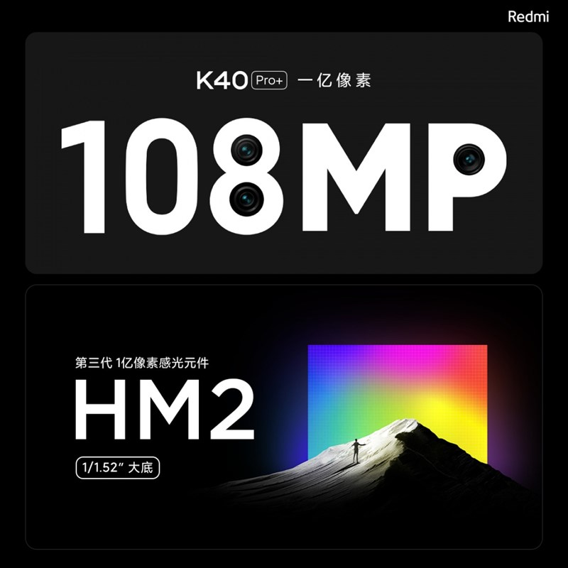 Using a quality sensor from Samsung promises Redmi K40 Pro + will take extremely good pictures