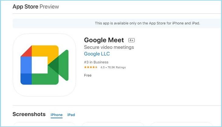 Tải Google Meet