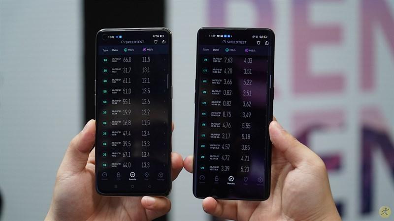 So sánh tốc độ tải xuống và tải lên khi sử dụng mạng 4G và 5G