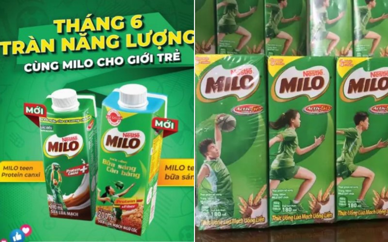 Các loại sữa Milo