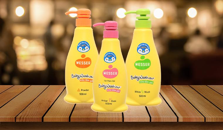 Sữa tắm gội Wesser sản phẩm dịu nhẹ cho làn da bé mà các mẹ tin dùng