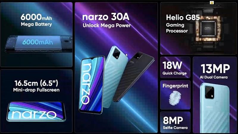 Realme Narzo 30A có hiệu năng ổn định với con chip Helio G85