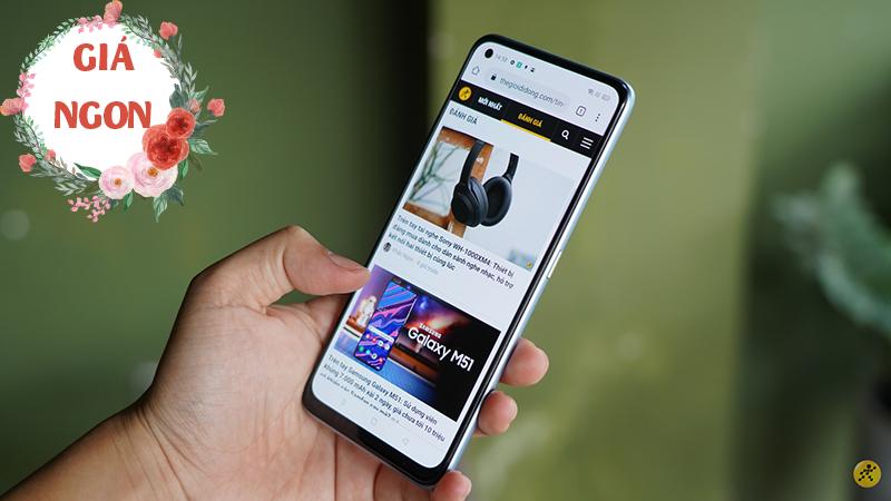 Smartphone Realme thiết kế đẹp, pin trâu giảm cực ngon đến cuối tháng