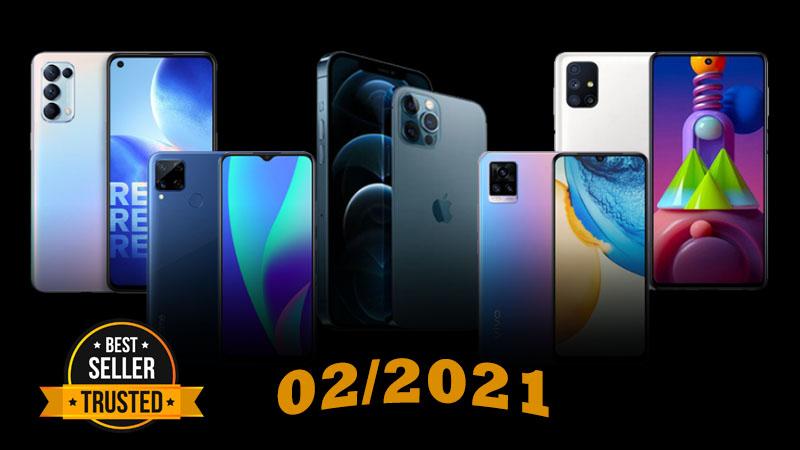 Top smartphone bán chạy nhất tháng 2/2021 tại Thế Giới Di Động, OPPO Reno5 và Galaxy M51 vẫn tiếp tục góp mặt (Phần 1)
