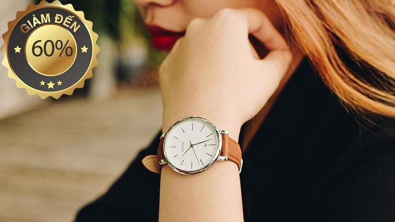 đồng hồ nữ Fossil khuyến mãi