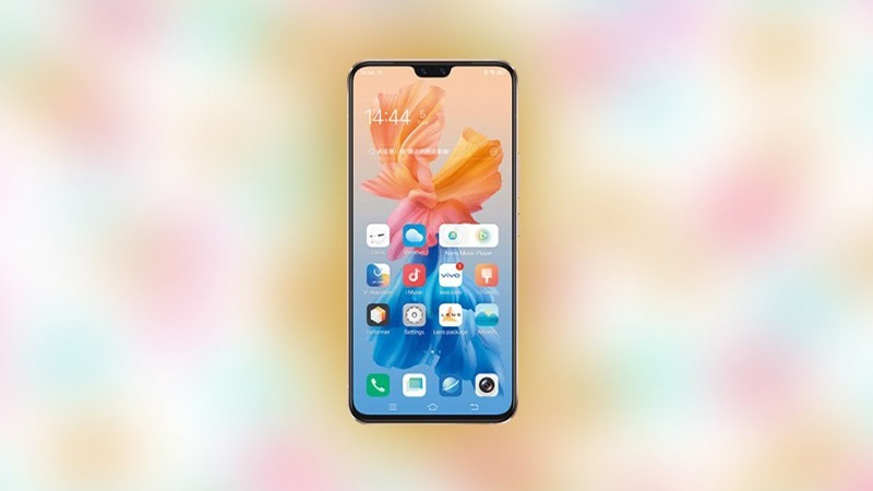 The front of the Vivo S9 uses a notch design that houses the selfie camera cluster