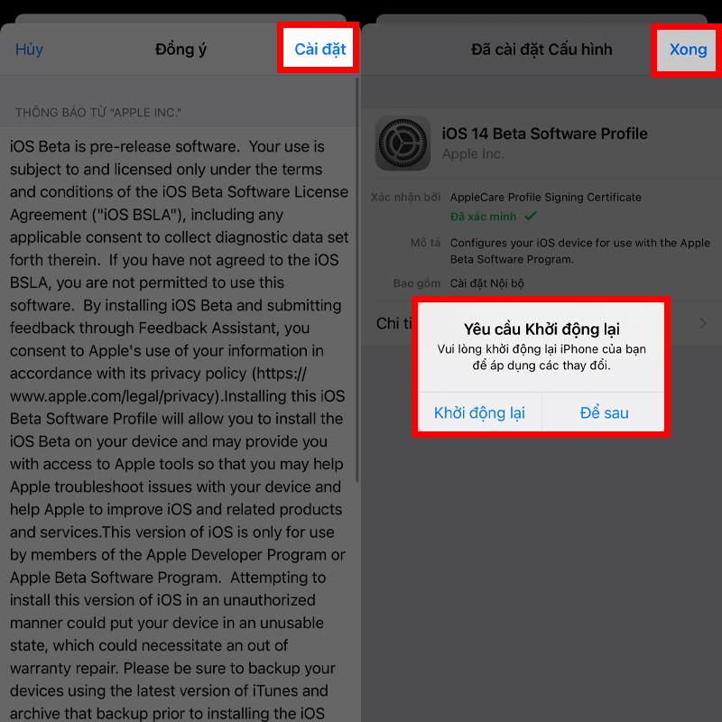 Cập nhật iOS 14.5 Beta 3 bước 3