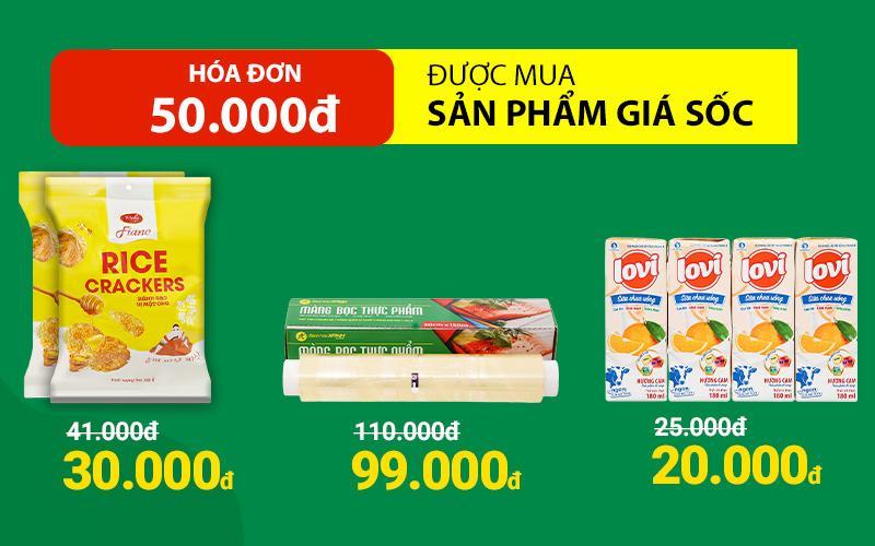 Mừng 8/3, hóa đơn từ 50k được mua kèm nhiều sản phẩm với giá ưu đãi!