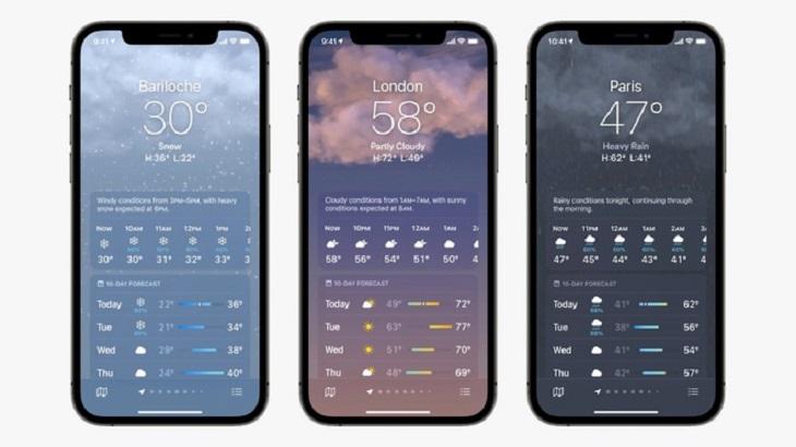 Ba ảnh nền mới trên iOS 15