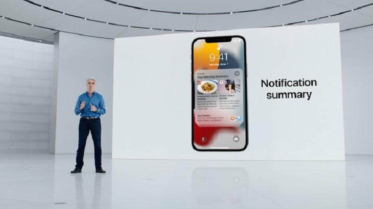 Hệ thống thông báo mới trên iOS 15