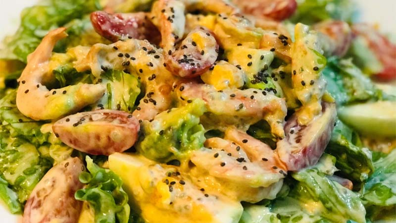 Salad bơ tôm
