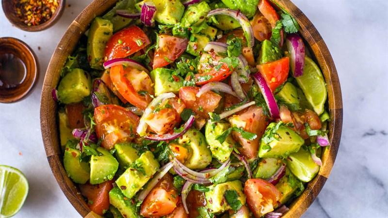 Thành phẩm salad cà chua