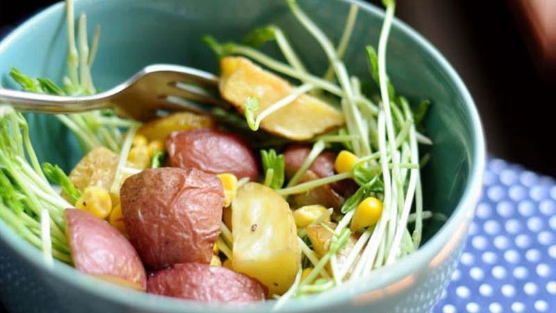Salad bơ khoai tây nướng